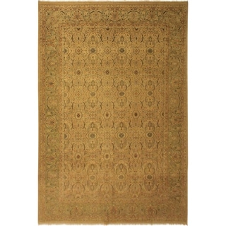Antique Vegtable Dye  Shea Tan/Lt. Green Wool Rug (10'2 x 14'3) - 10 ft. 2 in. x 14 ft. 3 in.