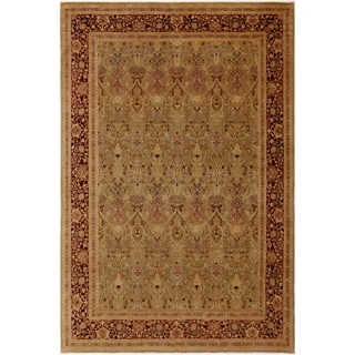 Istanbul Augusta Gold/Drk. Red Wool Rug (9'0 x 11'3) - 9 ft. 0 in. x 11 ft. 3 in.