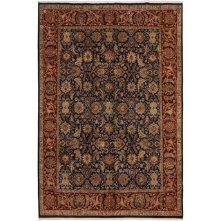 Agra Pak-Persian Tessie Blue/Red Wool Rug (8'3 x 10'2) - 8 ft. 3 in. x 10 ft. 2 in.