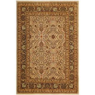 Istanbul Liliana Tan/Black Wool Rug (9'1 x 12'4) - 9 ft. 1 in. x 12 ft. 4 in.