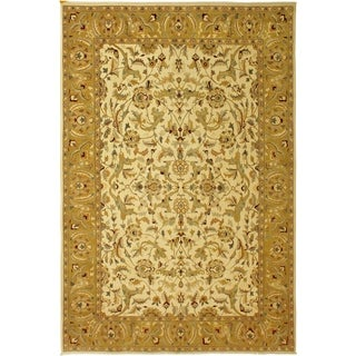 Istanbul Sherrie Ivory/Gold Wool Rug (9'10 x 14'7) - 9 ft. 10 in. x 14 ft. 7 in.
