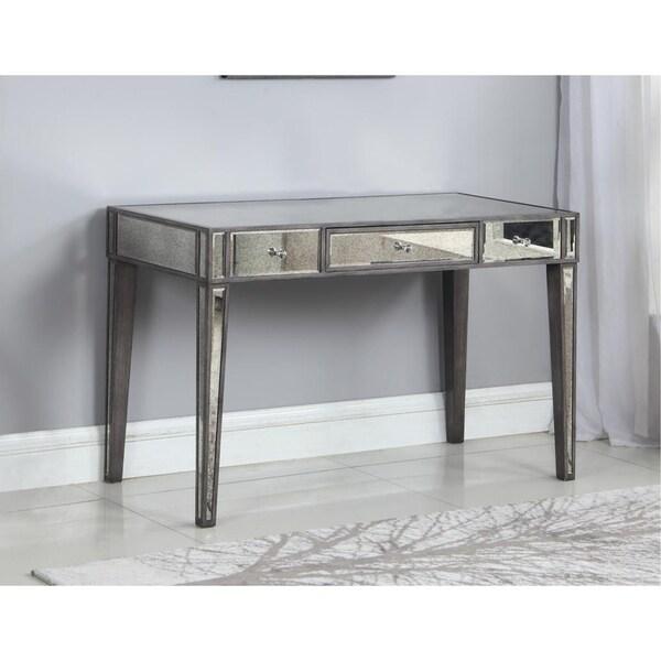 Best Master Furniture Mirrored Wood Writing Desk - Shop Best Master Furniture Mirrored Wood Writing Desk - Free