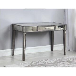 Best Master Furniture Mirrored Wood Writing Desk