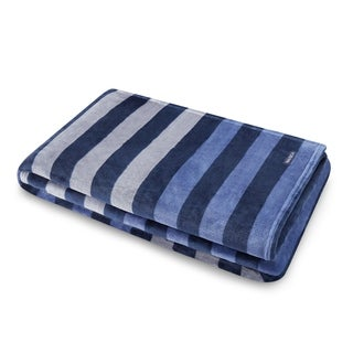 Nautica Sandy Spring Stripe Plush Throw - 50x70
