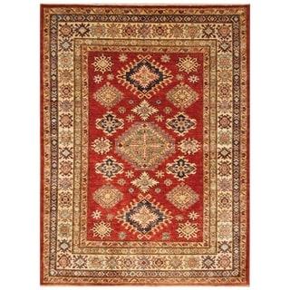 Handmade Super Kazak Wool Rug (Afghanistan) - 5' x 6'9