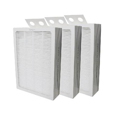Filter-Monster True HEPA Replacement for Blueair 500/600 Series Air Purifier Filter, 3 Pack - White