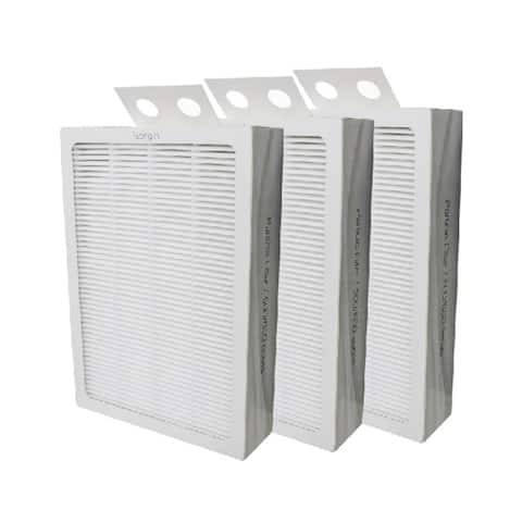 Filter-Monster True HEPA Replacement for Blueair 500/600 Series Particle Filter, 3 Pack - White