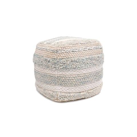 Pasargad Home Grand Canyon Cotton Pouf