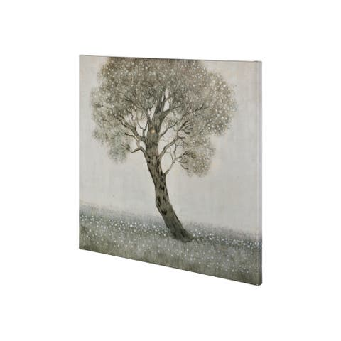 Mercana White Blossom Tree (30 x 30) Made to Order Canvas Art