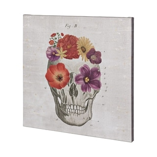 Mercana Floral Skull II (44 x 44) Made to Order Canvas Art