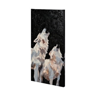 Mercana Midnight Wolves (30 x 60) Made to Order Canvas Art