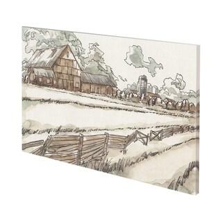 Mercana Autumn Field I (54 x 38) Made to Order Canvas Art