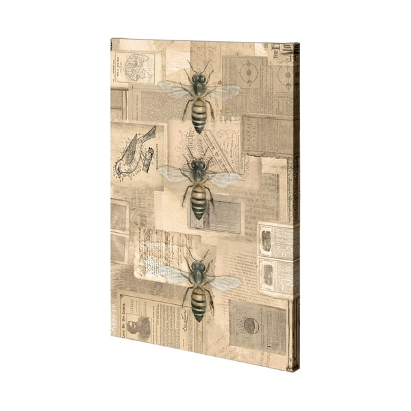 Mercana Academic Bee Illustration (36 x 54) Made to Order Canvas Art