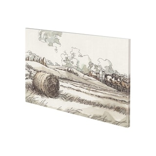 Mercana Autumn Field II (38 x 26) Made to Order Canvas Art