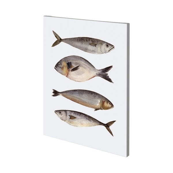 Mercana Four Fish II (36 x 48) Made to Order Canvas Art