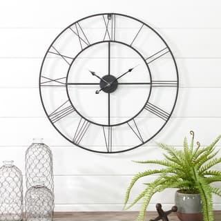 Alpin Round Metal Wall Clock - N/A