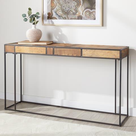 Carbon Loft Reclaimed Multi Color Rectangular Sofa Table