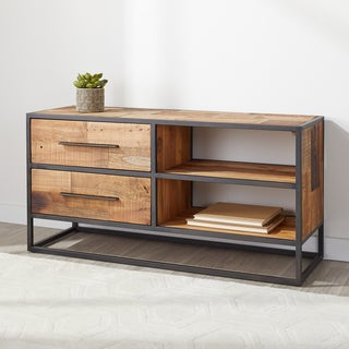 Carbon Loft Reclaimed 2-drawer Multi Color Sofa Table