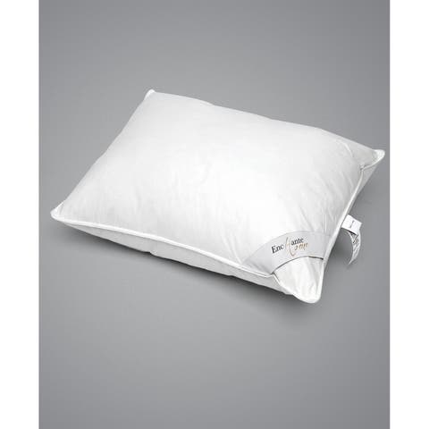 Enchante Home Luxury Goose Down Queen Pillow - Firm - White