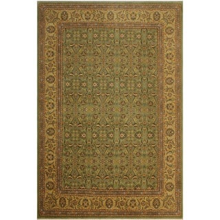 Istanbul Evangeli Green/Gold Wool Rug (9'4 x 12'10) - 9 ft. 4 in. x 12 ft. 10 in.