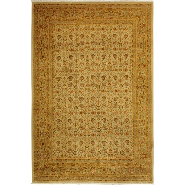 Istanbul Yesenia Lt. Gray/Gold Wool Rug (9'2 x 12'4) - 9 ft. 2 in. x 12 ft. 4 in.