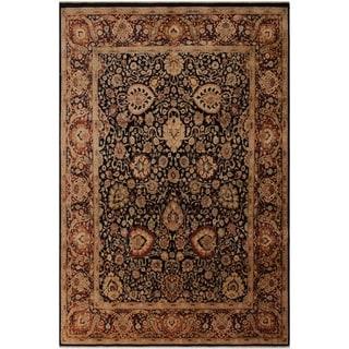 Antique Vegtable Dye Anmol Agra David Blue/Red Wool Rug (8'1 x 10'7) - 8 ft. 1 in. x 10 ft. 7 in.