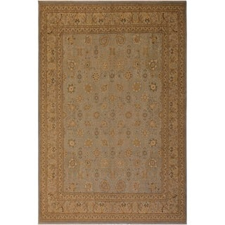 Kashan Istanbul Chasidy Lt. Blue/Ivory Wool Rug (7'11 x 9'11) - 7 ft. 11 in. x 9 ft. 11 in.