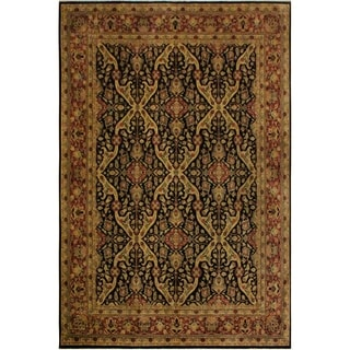 Istanbul Annabell Tan/Brown Wool Rug (8'11 x 12'2) - 8 ft. 11 in. x 12 ft. 2 in.