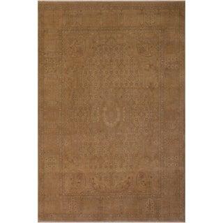 Antique Vegtable Dye  Cecile Tan/Tan Wool Rug (9'2 x 12'2) - 9 ft. 2 in. x 12 ft. 2 in.