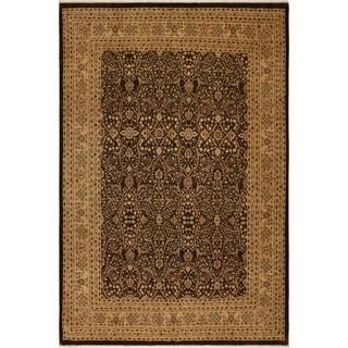 Antique Vegtable Dye Tabriz Nieves Brown/Tan Wool Rug (8'4 x 10'5) - 8 ft. 4 in. x 10 ft. 5 in.