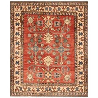 Handmade Super Kazak Wool Rug (Afghanistan) - 5'3 x 6'4