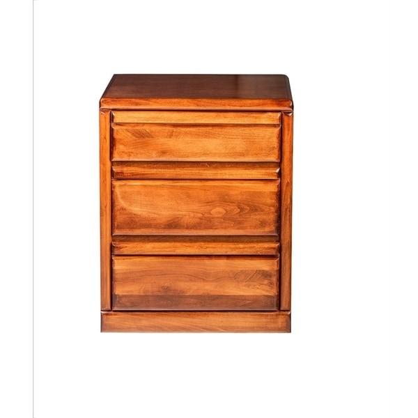 Bullnose Oak Three Drawer Nightstand 25W x 30H x 18D