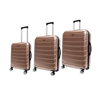 Tahari New York- Flatiron Collection 3pc luggage set hardsided molded-Champagne