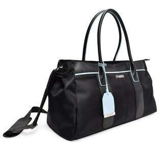 "TAHARI NEW YORK Madison Avenue Collection 21"" Travel Duffel Bag-Black"