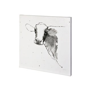 Mercana Cow II Dark Square (30 x 30) Made to Order Canvas Art