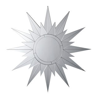 "Porch & Den McGee Silver Sunburst Wall Mirror - 38.75"" x 0.75"" x 38.75"""