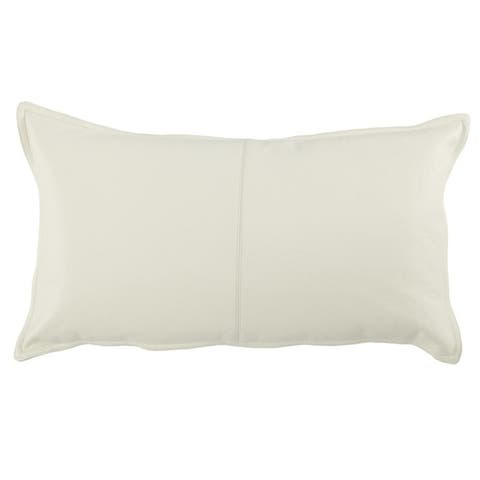 Strick & Bolton Lindi Leather 14-inch x 26-inch Throw Pillow
