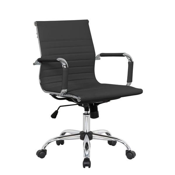 LeisureMod Harris Executive Leatherette Tilt & Swivel Office Chair. Opens flyout.