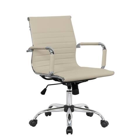 LeisureMod Harris Executive Leatherette Tilt & Swivel Office Chair