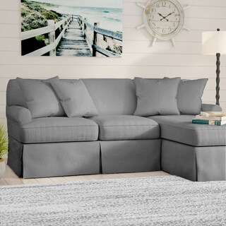 Pleasant Sunset Trading Horizon T Cushion Sectional Sofa With Chaise Slipcover Performance Fabric Gray Overstock Com Shopping The Best Deals On Sofa Andrewgaddart Wooden Chair Designs For Living Room Andrewgaddartcom