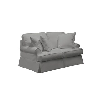 Sunset Trading Horizon T-Cushion Loveseat Slipcover - Performance Gray