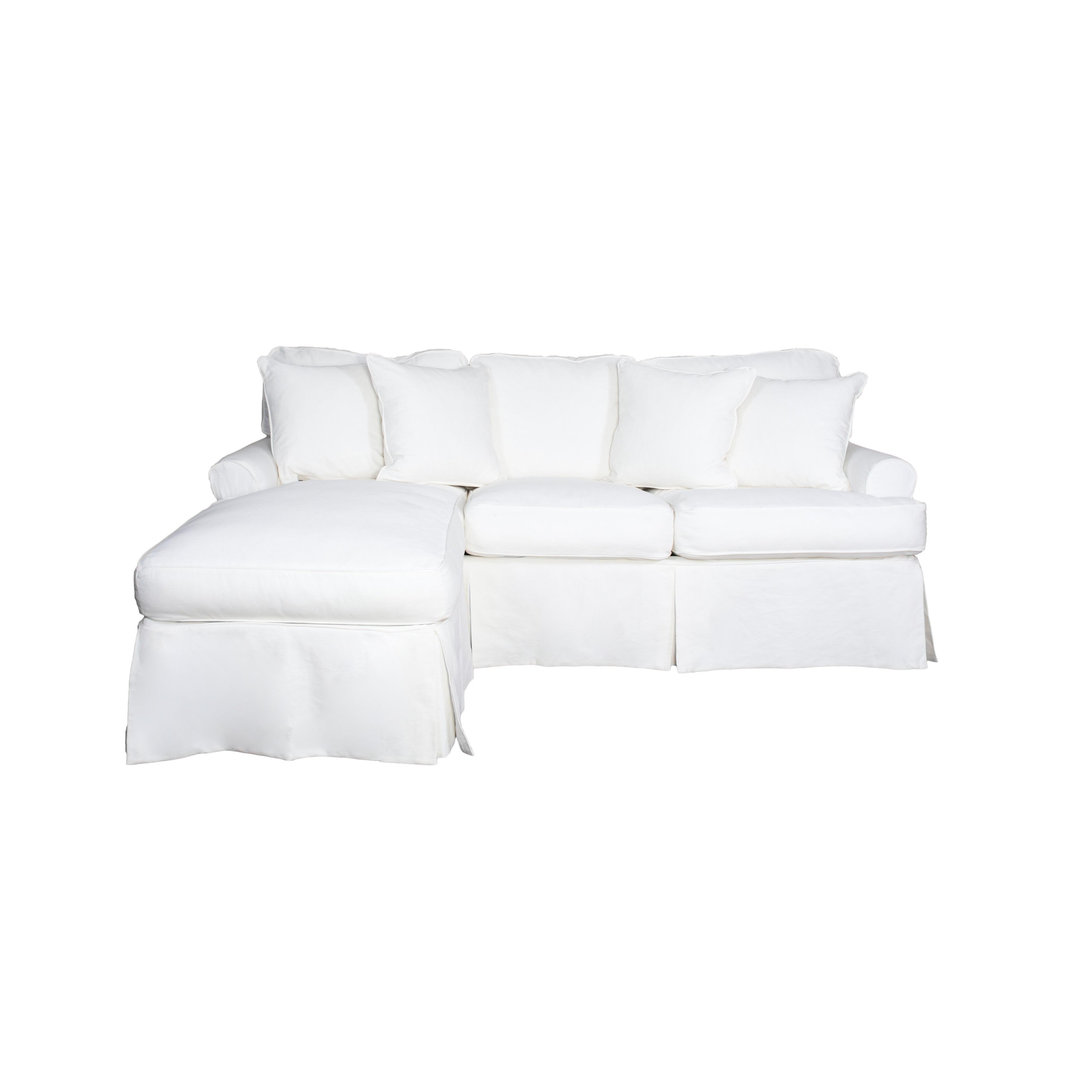 Stupendous Sunset Trading Horizon Sectional Sofa Slipcover White Cover Only Andrewgaddart Wooden Chair Designs For Living Room Andrewgaddartcom