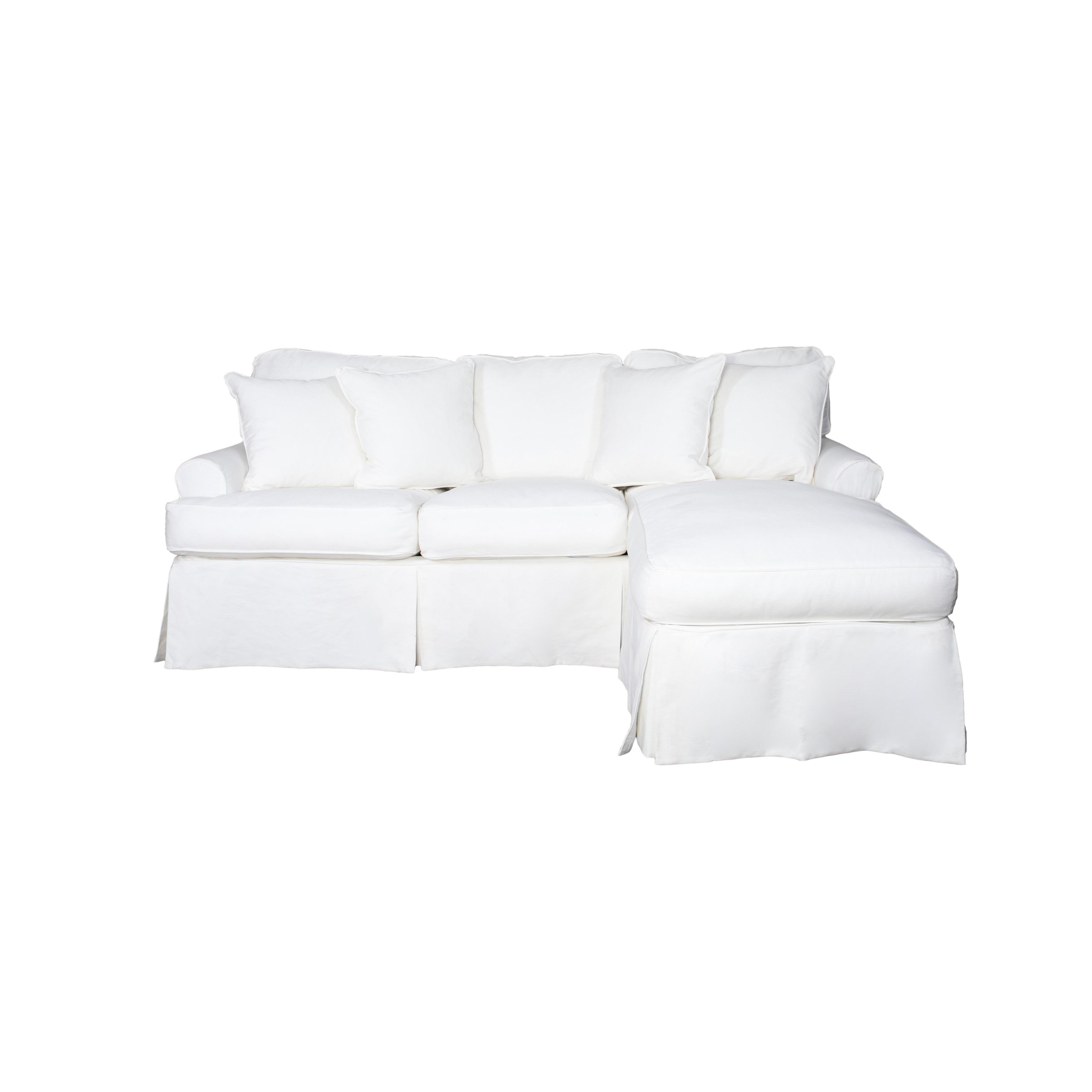 Sunset Trading Horizon Sectional Sofa Slipcover - White (Cover Only)