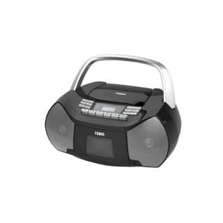 Portable CD/Cassette Boombox
