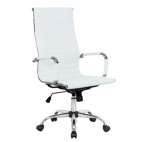 LeisureMod Harris High-Back Executive Leatherette Office Chair