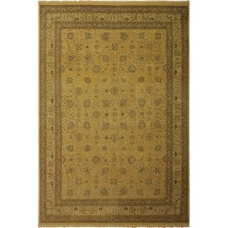 Istanbul Clark Gold/Ivory Wool Rug (10'0 x 14'1) - 10 ft. 0 in. x 14 ft. 1 in.