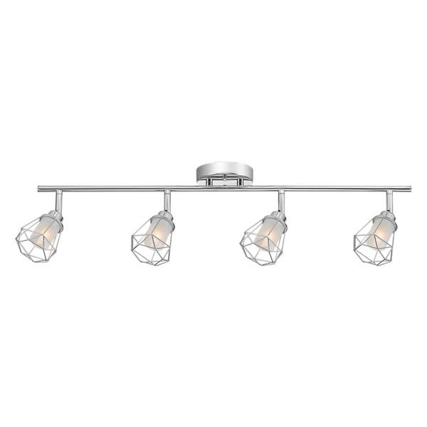 Sansa 4 Light Chrome Track Lighting
