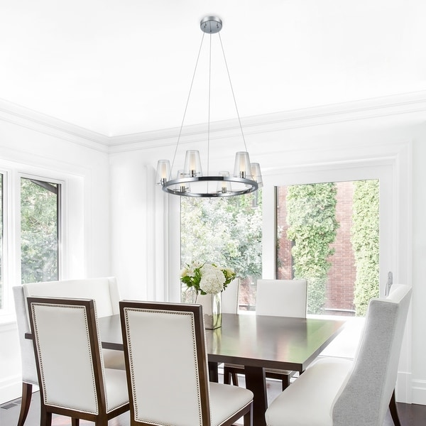 Carter 20W LED Integrated Energy Star 6-Light Chrome Chandelier. Opens flyout.