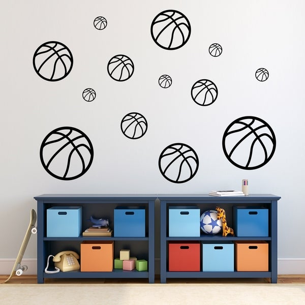 Basketballs Wall Decal Pack