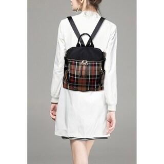 MKF Collection Nishi Plaid Backpack by Mia K. Farrow